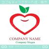 林檎,りんご,ハート,リンゴ,アップル,リーフのロゴマークデザイン