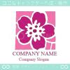 花,フラワー,四角をイメージしたロゴマークデザインです。
