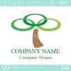 木,リーフ,リングをイメージしたロゴマークデザインです。