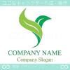 鳥,バード,グリーン,リーフをイメージしたロゴマークデザインです。
