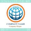 地球,太陽,グローバル,ビジネスのロゴマークデザインです。