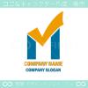 アルファベットM,日光をイメージしたロゴマークデザインです。