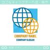 地球,グローバル,バーチャル,イメージのロゴマークデザインです。