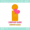 I文字,人間,ハート,愛をイメージしたロゴマークデザインです。