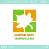 楓,カエデ,リーフ,自然をイメージしたロゴマークデザインです。