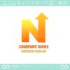 N文字,太陽,上昇,矢のイメージのロゴマークデザインです。