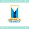 文字M,ビル,矢,上昇がイメージのロゴマークデザインです。