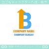 B文字,上昇,矢がイメージのロゴマークデザインです。