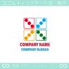 サイコロ,カラフル,ナンバー3をイメージしたロゴマークデザインです。