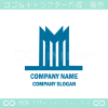 M文字,ビル,塔,都市をイメージしたロゴマークデザインです。