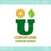花,リーフ,文字U,エコがイメージのロゴマークデザインです。