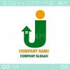 文字J,太陽,上昇,矢がイメージのロゴマークデザインです。