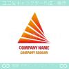 上昇,ピラミッド,太陽光がイメージのロゴマークデザインです。