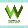 W文字,山,山脈,上昇をイメージしたロゴマークデザイン
