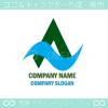 文字A,山,風,矢,上昇をイメージしたロゴマークデザインです。