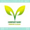 リーフ,誕生,V文字,勝利,エコのロゴマークデザインです。