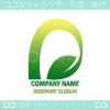 文字D,リーフ,植物,自然がモチーフのロゴマークデザインです。