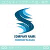 風,海,波,S文字,拡大がモチーフのロゴマークデザインです。