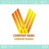 勝利のV,炎,豪華のシンボルマークのロゴマークデザインです。