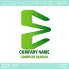文字E,グリーン,エコのシンボルマークのロゴマークデザイン
