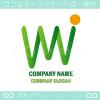 太陽,山,上昇,WINWINのロゴマークデザインです。