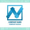 N文字,青,クリーンのロゴマークデザインです。