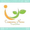 Iアルファベット,リーフをイメージしたロゴマークデザインです。