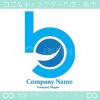 B文字,上昇のイメージのロゴマークデザインです。