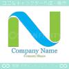 N文字,自然,環境をイメージしたロゴマークデザインです。