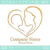 親子,母親の愛をイメージしたロゴマークデザインです。