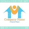 M文字,人,上昇をイメージしたロゴマークデザインです。