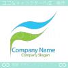 F文字,リーフ,水をイメージしたロゴマークデザインです。