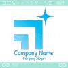 星,右上昇のイメージのロゴマークデザインです。