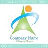 矢,太陽,山,風のイメージのロゴマークデザインです。