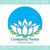 蓮の花,ロータス,クールなイメージのロゴマークデザインです。