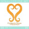 ハート,愛をイメージした可愛いロゴマークデザインです。