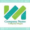 M文字,N文字のイメージのロゴマークデザインです。