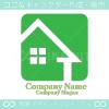 マイホーム,エコグリーンのイメージのロゴマークデザインです。