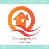 断熱住宅,暖かい,家のイメージのロゴマークデザインです。