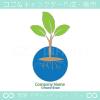 誕生,リーフ,芽のイメージのロゴマークデザインです。