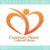 心臓,ハート,人間をイメージしたロゴマークデザインです。