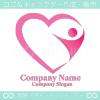 人間、ハート、愛をイメージしたロゴマークデザインです。