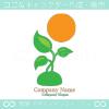 太陽、グリーン、成長をイメージしたロゴマークデザインです。