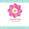 ピンクの花、カワイイがモチーフのロゴマークデザインです。