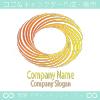 太陽光、回転のシンボルマークのロゴマークデザインです。