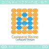 A文字、ドットをイメージしたロゴマークデザインです。