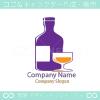 ワイン、グラスをイメージしたロゴマークデザインです。