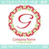 文字G,フラワーリース,花,植物,自然のロゴマークデザイン
