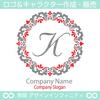 文字,K,フラワーリース,花,植物,自然のロゴマークデザイン