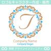 T,文字,フラワーリース,花,植物,自然のロゴマークデザイン